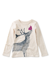 Tea Collection  Winter Deer Tee - Front cropped