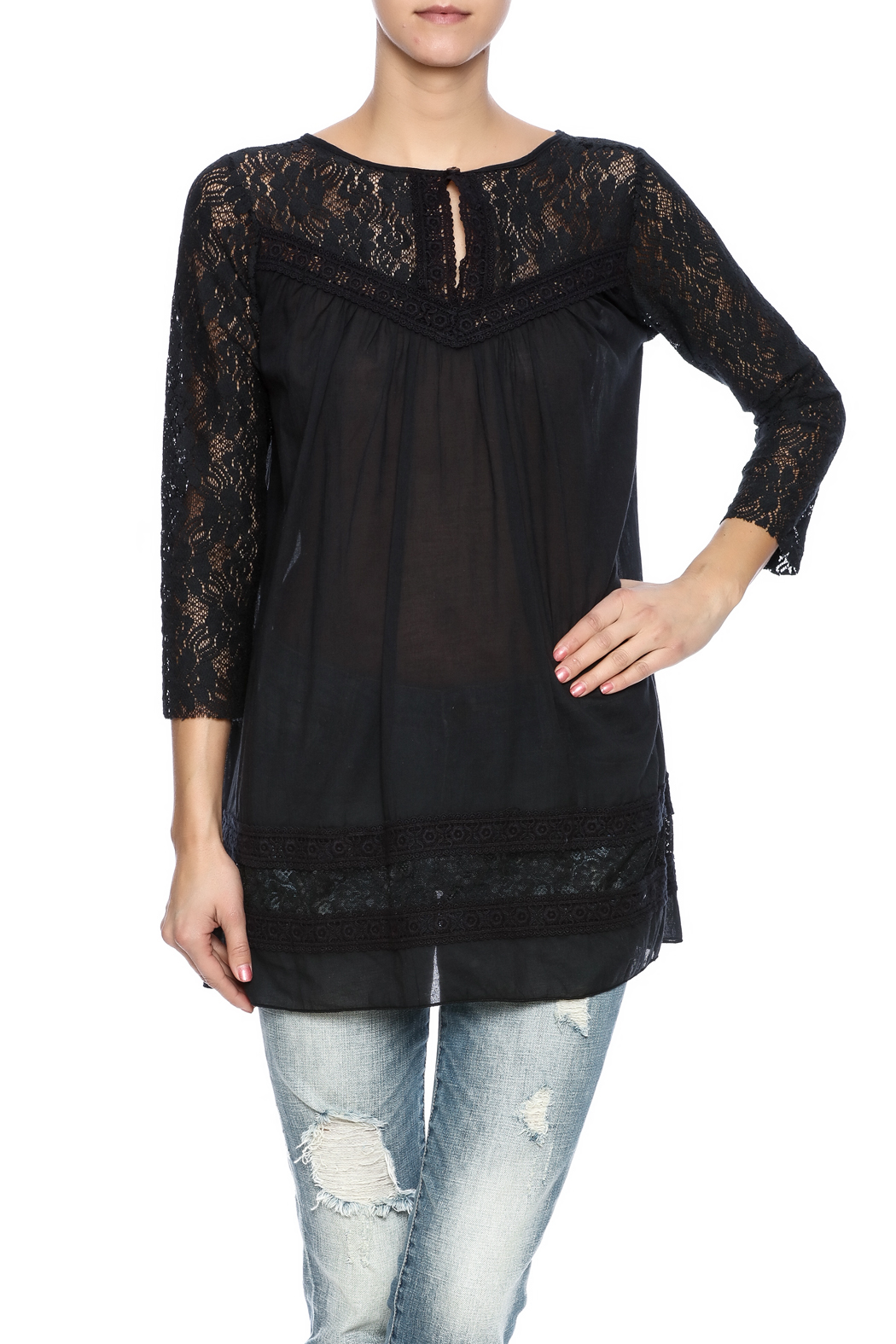 Winter Lennon Lace Long Sleeve Tunic from California by ...