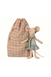 Maileg Winter Mouse Big Sister In Bag - Product Mini Image