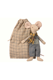 Maileg Winter Mouse, Father In Bag - Product Mini Image