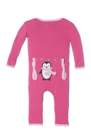 Kickee Pants Winter Penguin Coverall - Front cropped