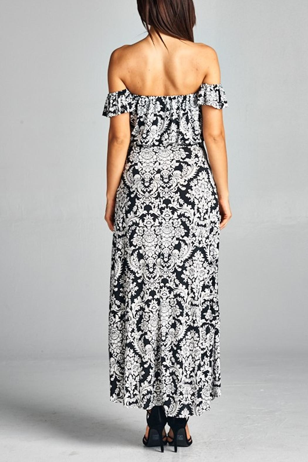 WinWin Off Shoulder Maxi - Side Cropped Image