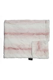 Winx+Blinx Crushed Ombre Blush Minky Blanket (34 X 29 Inches)for Newborn Baby Boys Girls Winter Swaddle - Front cropped