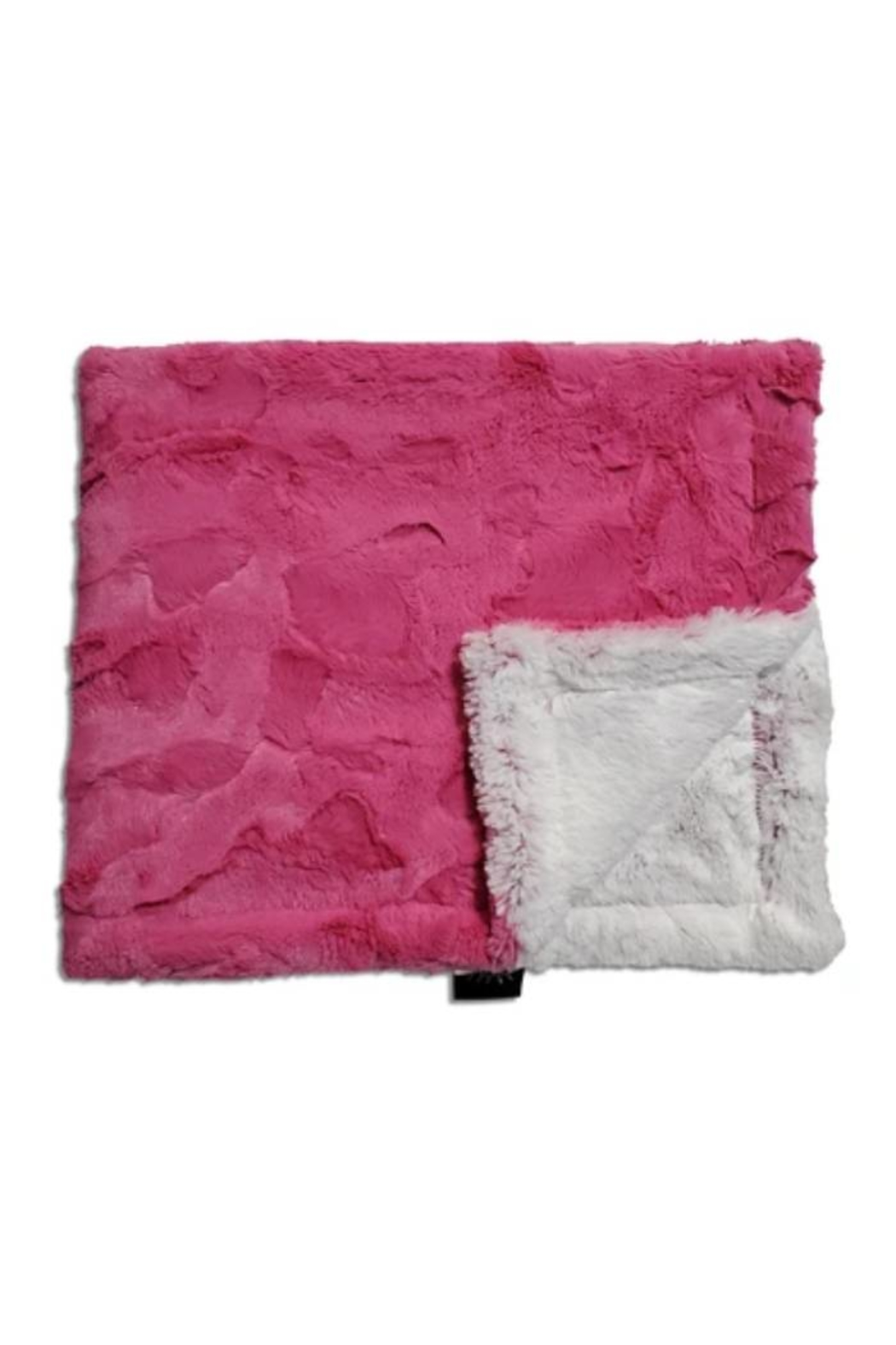 Winx+Blinx Fuschia Frost Mini Minky Blanket (13 X 12.5 Inches)for Newborn Baby Boys Girls Winter Swaddle - Main Image