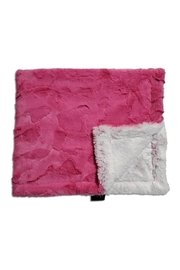 Winx+Blinx Fuschia Frost Mini Minky Blanket (13 X 12.5 Inches)for Newborn Baby Boys Girls Winter Swaddle - Front cropped