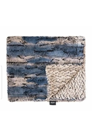 Winx+Blinx Ombre Navy Mini Minky Blanket (13 X 12.5 Inches)for Newborn Baby Boys Girls Winter Swaddle - Front cropped