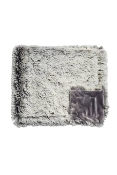 Winx+Blinx Shaggy Frosted Charcoal Grey Mini Minky Blanket (13 X 12.5 Inches)for Newborn Baby Boys Girls Winter Swaddle - Product List Image
