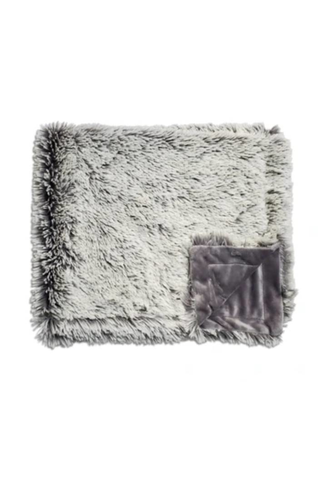 Winx+Blinx Shaggy Frosted Charcoal Grey Minky Blanket (34 X 29 Inches)for Newborn Baby Boys Girls Winter Swaddle - Main Image