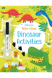 Usborne Wipe-Clean Dinosaur Activities - Front cropped