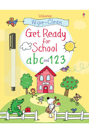 Usborne Wipe-Clean Get Ready For School: ABC & 123 - Front cropped