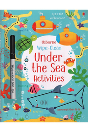 Usborne Wipe Clean Under The Sea Activities - Front cropped