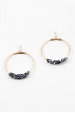 Shoptiques Product: Wire Beaded Earrings