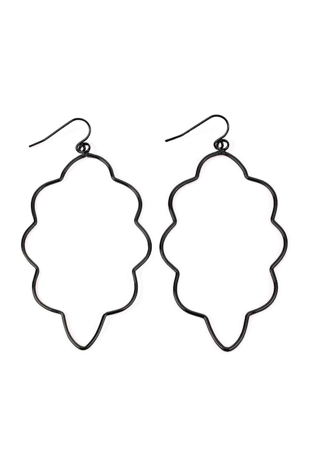 Riah Fashion Wire-Cloud Hook Earrings - Front Cropped Image
