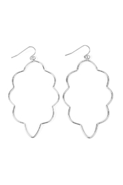 Riah Fashion Wire-Cloud Hook Earrings - Front cropped