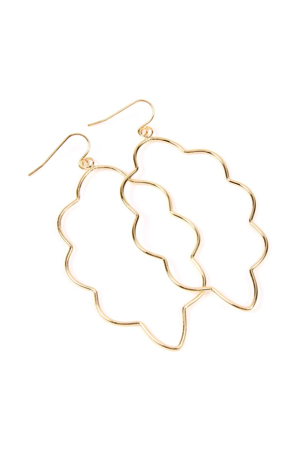 Riah Fashion Wire-Cloud Hook Earrings - Front Full Image