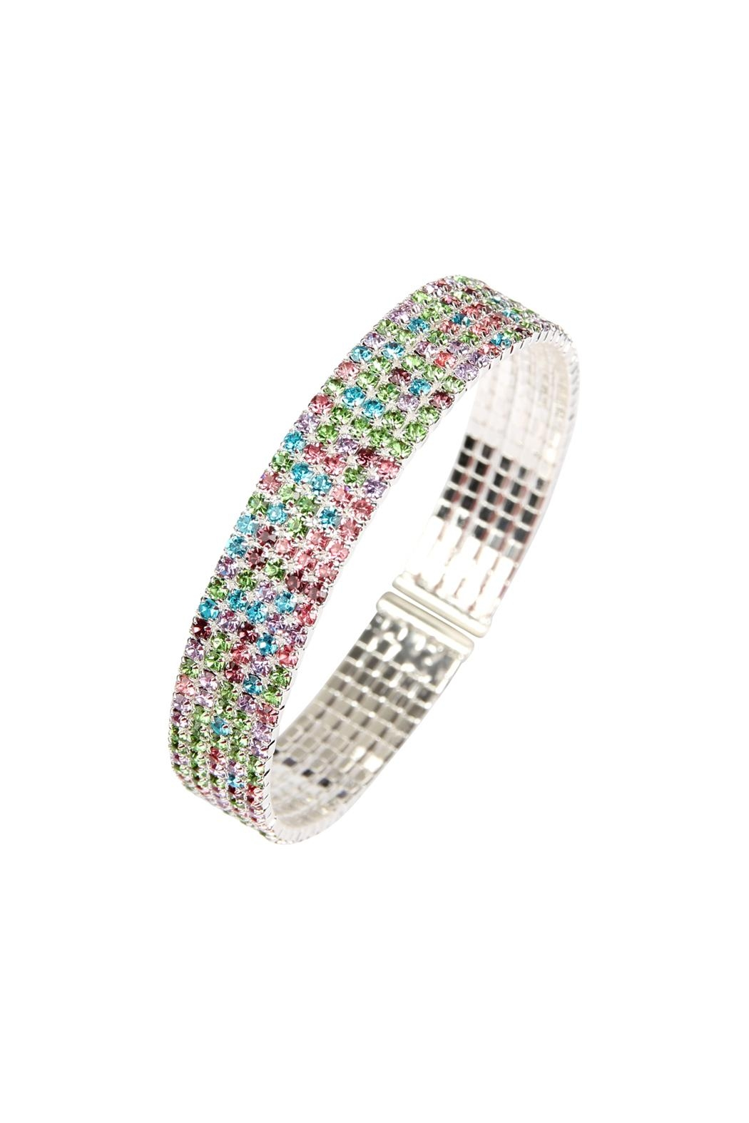 Riah Fashion Wire Cuff Bracelet - Front Full Image