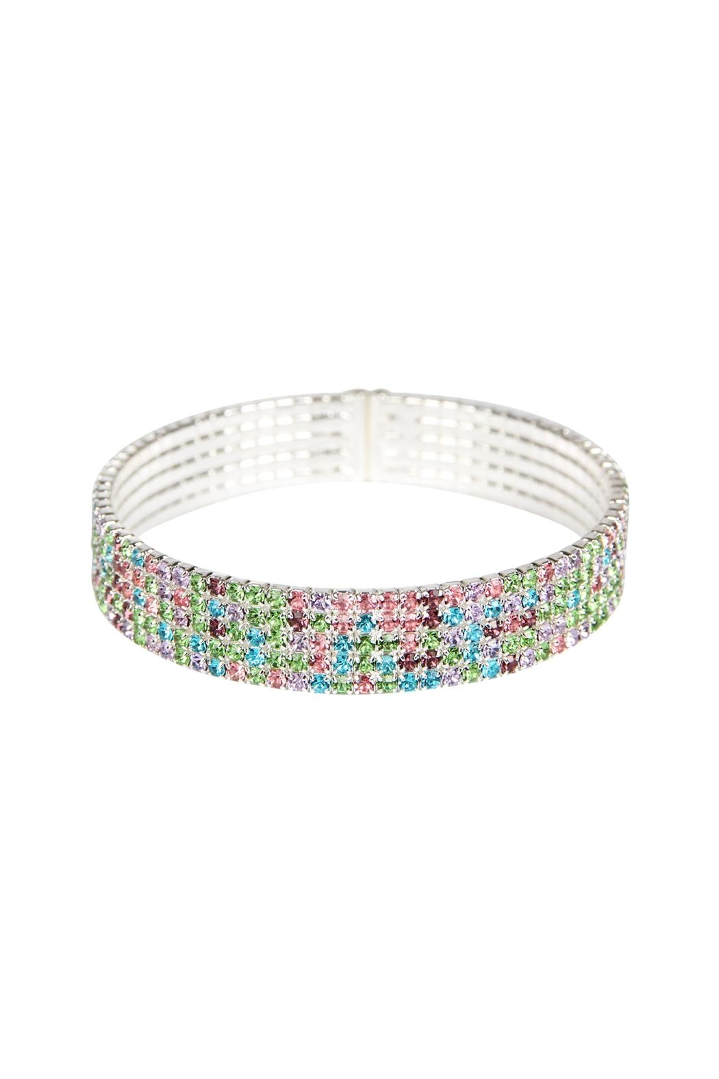 Riah Fashion Wire Cuff Bracelet - Front Cropped Image