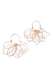 Riah Fashion Wire-Flower Hoop Earrings - Product Mini Image