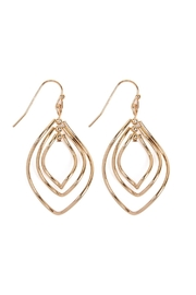 Riah Fashion Wire-Hammered Marquise-Hook-Earrings - Product Mini Image