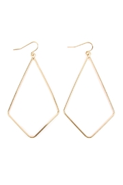 Riah Fashion Wire-Kite-Shape Drop Earrings - Product Mini Image