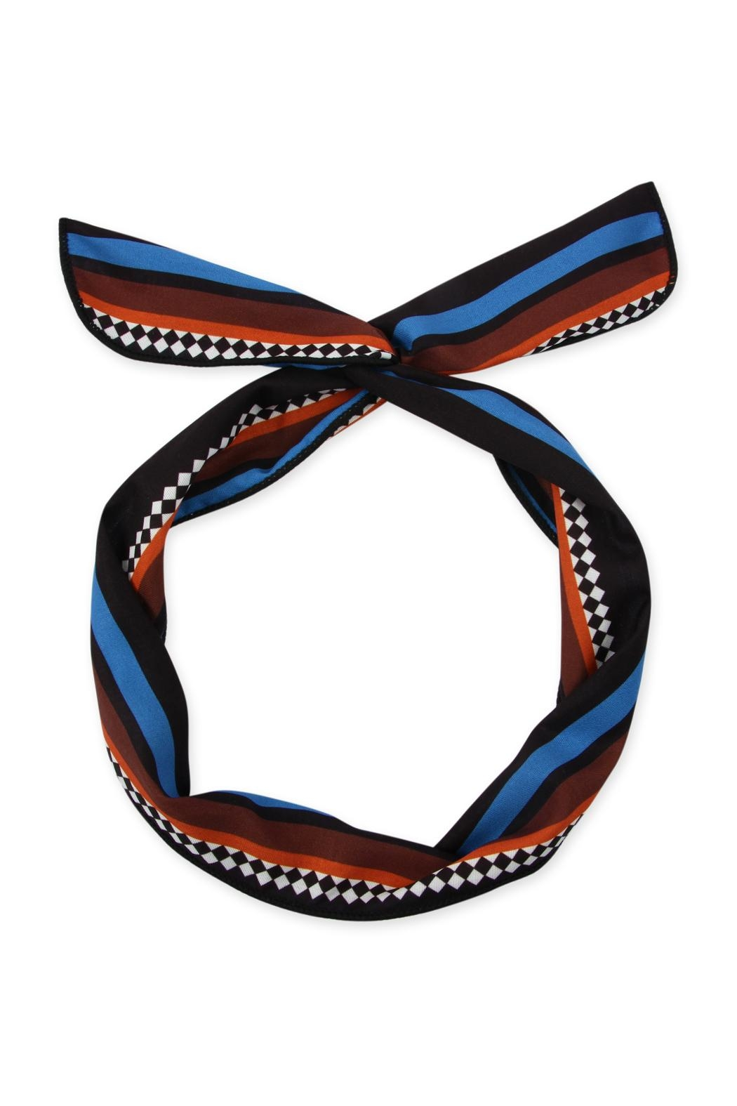 Riah Fashion Wire-Multi-Tone Scarf-Headband - Front Cropped Image
