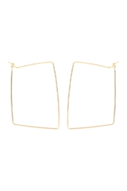Riah Fashion Wire-Rectangle Hoop-Earrings - Product Mini Image