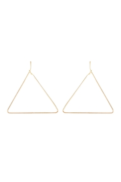 Riah Fashion Wire-Triangle Hoop-Earrings - Product List Image