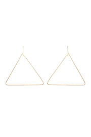 Riah Fashion Wire-Triangle Hoop-Earrings - Product Mini Image