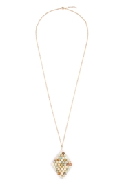 Riah Fashion Wired Stone Necklace - Front cropped