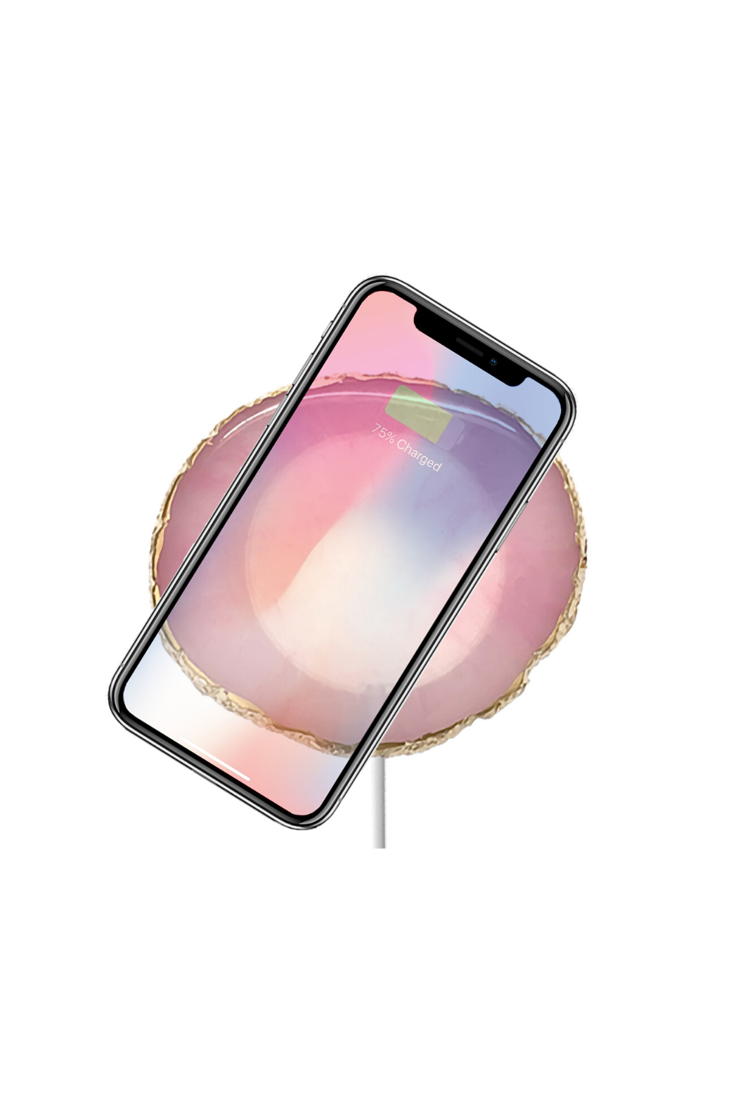 PhunkeeTree Wireless Charging Crystal Pads - Front Cropped Image