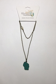 Gleeful Peacock Wisconsin State Necklace - Product Mini Image