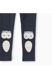 Tea Collection Wise Owl Cozy Leggings - Front full body
