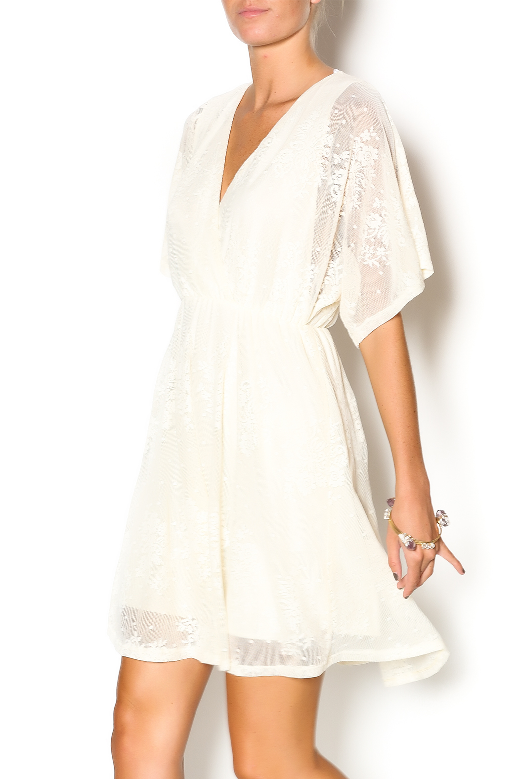 Wish Collection Cross-Front Lace Dress - Main Image