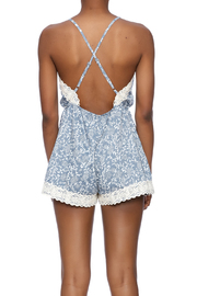 Wish Collection Denim And Lace Romper - Back cropped