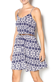 Wish Navy Belted Dress - Product Mini Image