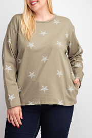 easel  Wish Upon a Star Top Curvy - Product Mini Image