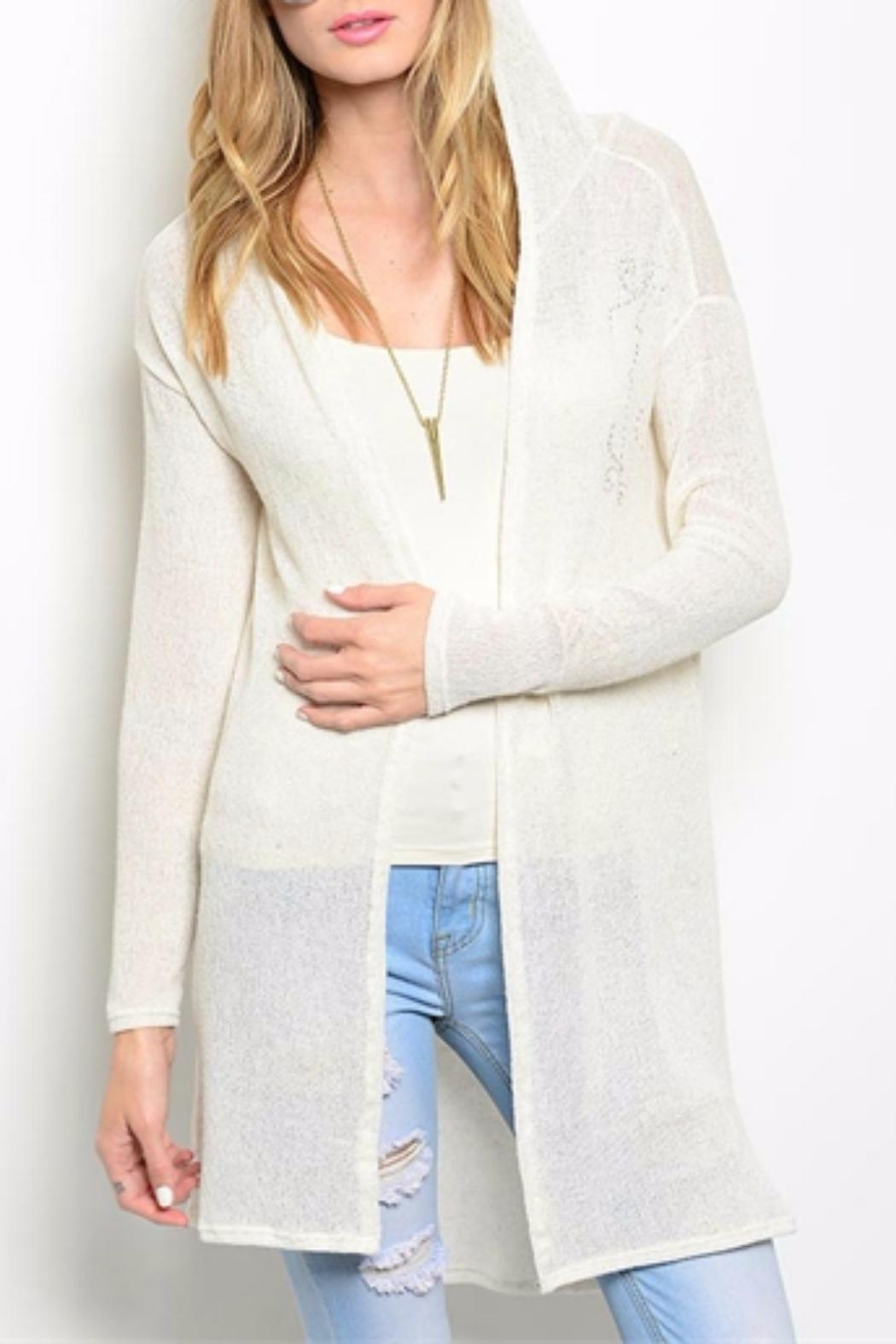 Wish & Whim Cream Hooded Cardigan from Tennessee by Cosmo — Shoptiques