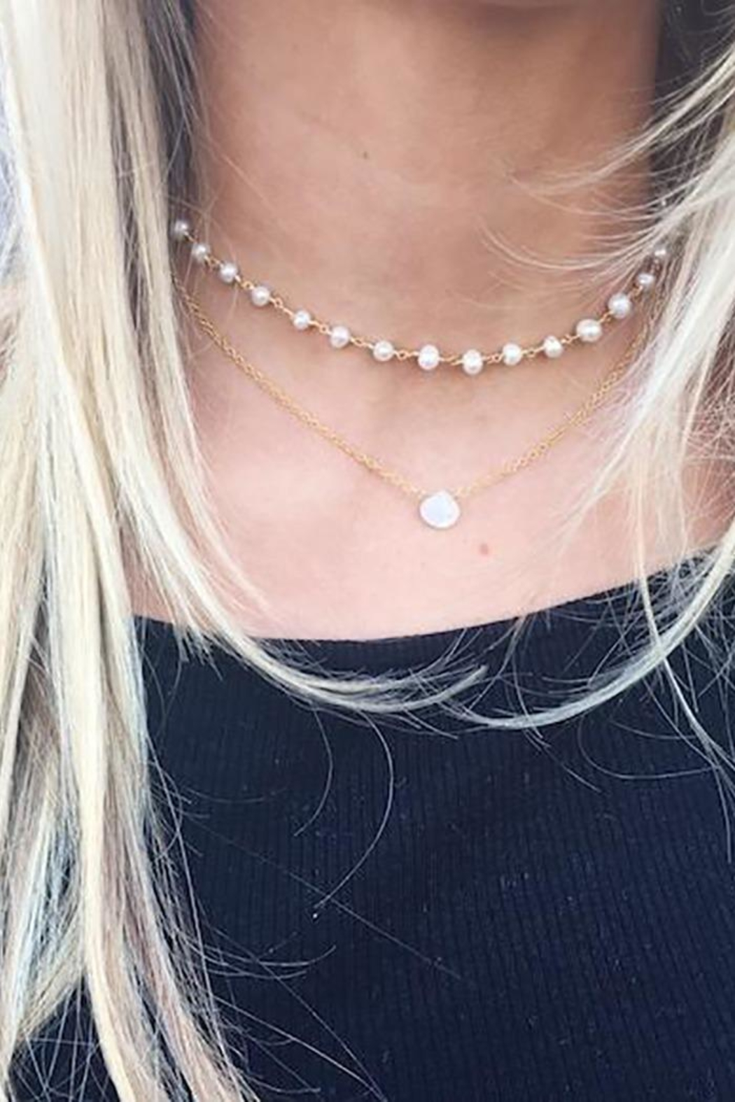 Lets Accessorize Wishes Pearl Necklace - Front Full Image