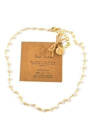 Lets Accessorize Wishes Pearl Necklace - Front cropped