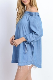 Wishlist 3/4-Sleeve Off-The-Shoulder Top - Front full body