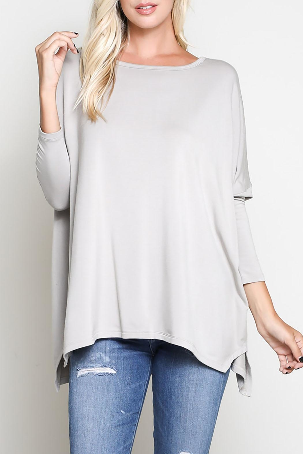 Wishlist 3/4 Sleeve Top - Front Cropped Image