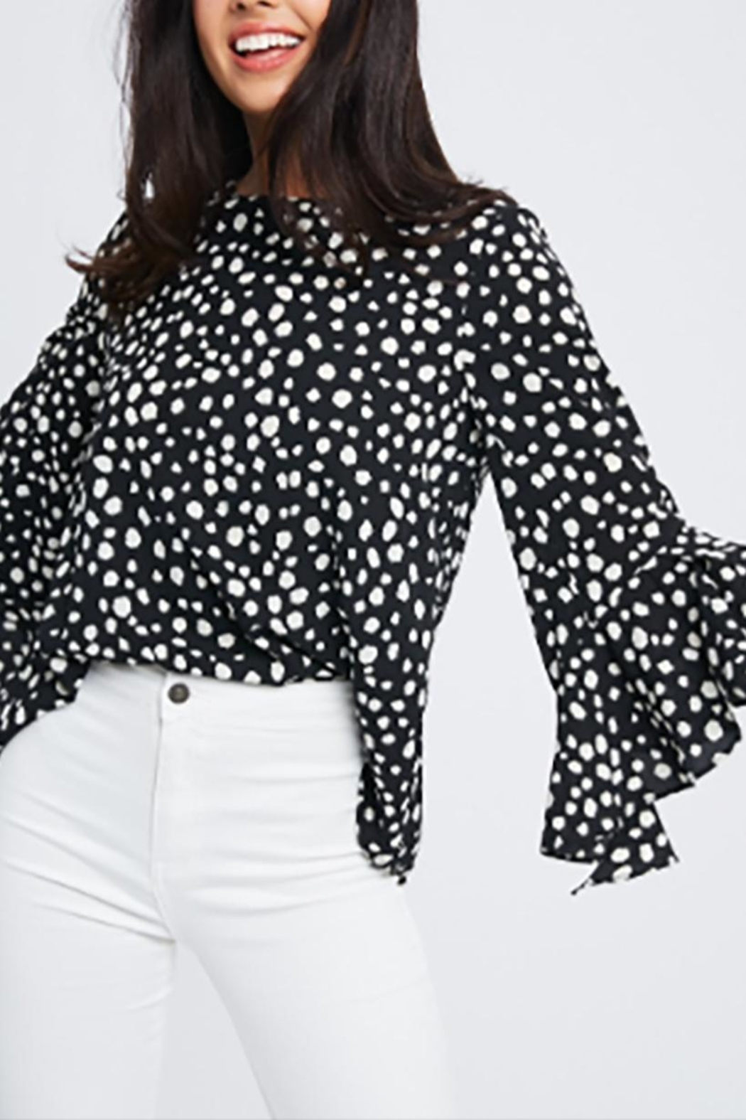 Wishlist Animal Print Blouse - Front Cropped Image