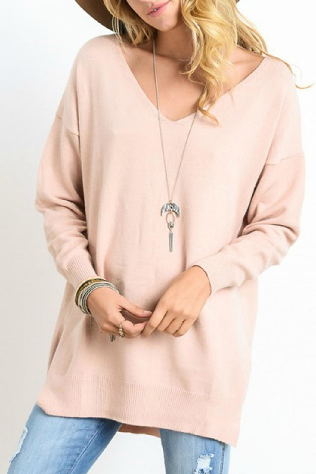 Wishlist Apricot V Neck Sweater - Main Image