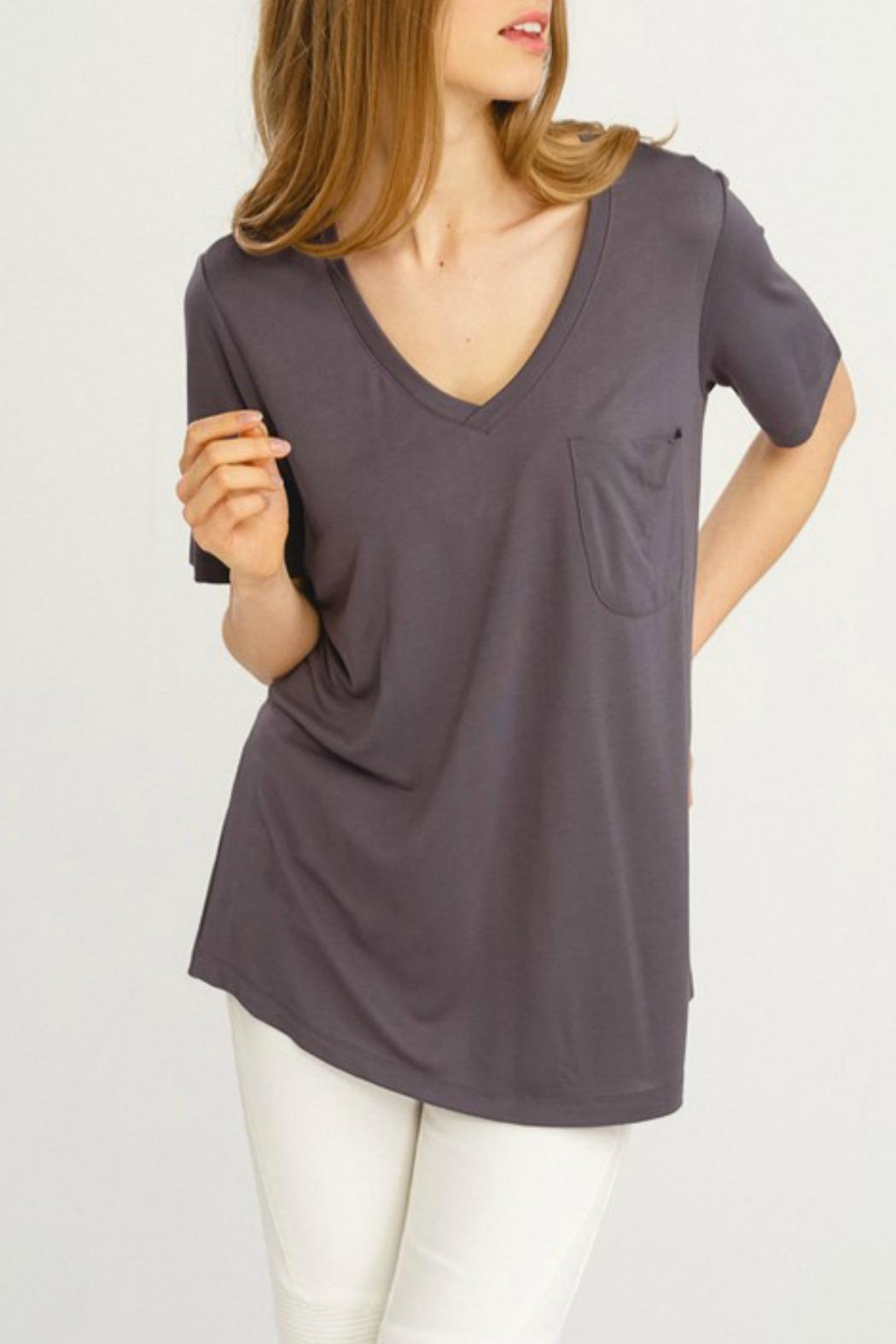 Wishlist Basic V-Neck Tee - Front Cropped Image