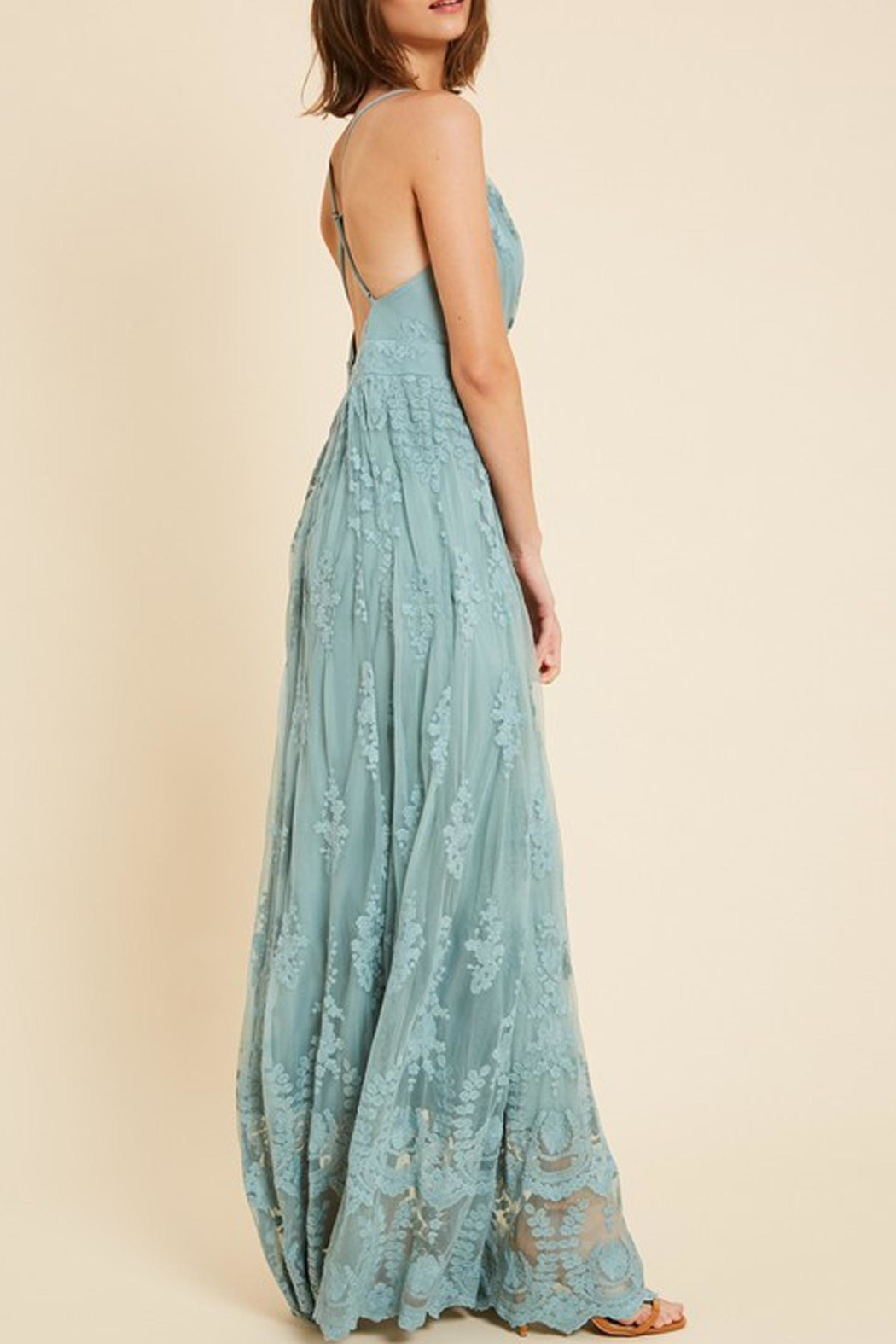 Wishlist Belle Floral-Embroidered Maxi - Front Full Image