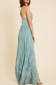 Wishlist Belle Floral-Embroidered Maxi - Front full body