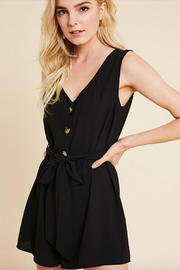 Wishlist Belted Button Romper - Product Mini Image