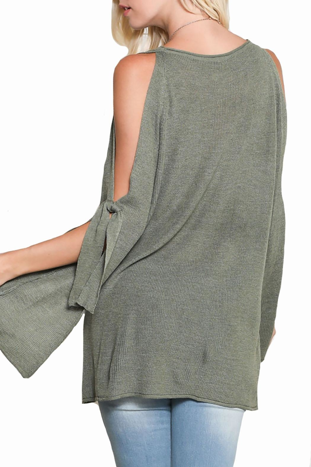 Wishlist Bow Sleeve Sweater - Back Cropped Image