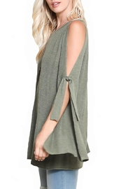 Wishlist Bow Sleeve Sweater - Front full body