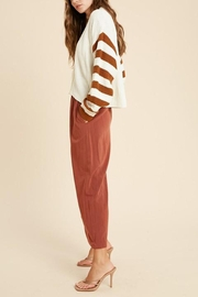 Wishlist Button-Down Striped-Sleeve Cardigan - Back cropped